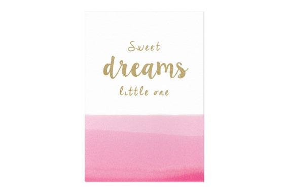 Sweet dreams little one poster | A3 zeefdruk print | voor meisje of jongen
