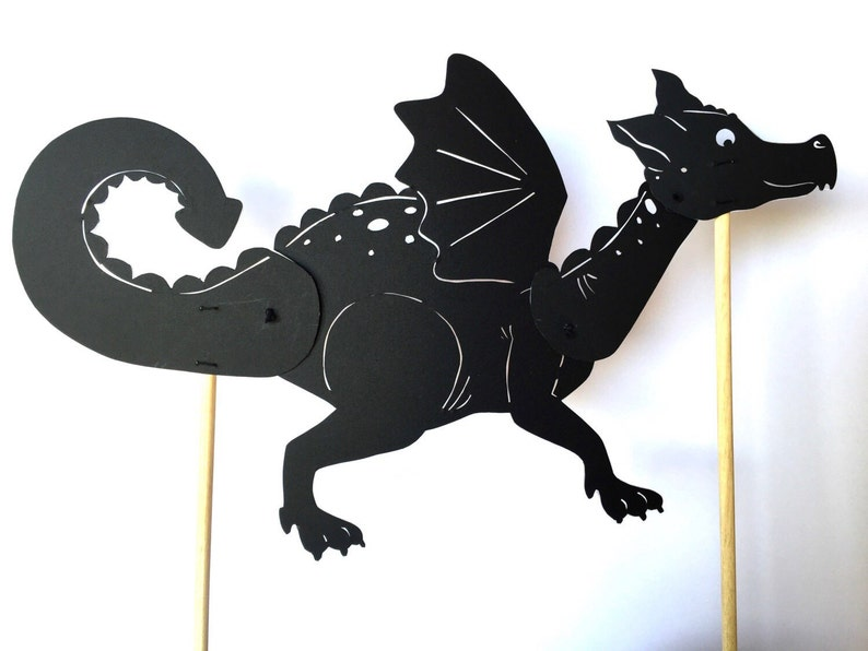 chinese dragon shadow puppet template