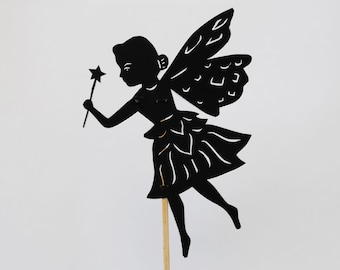 Princess Fairy Shadow Puppet - Hand cut