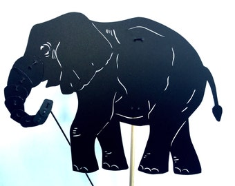 Elephant Shadow Puppet - Hand Cut
