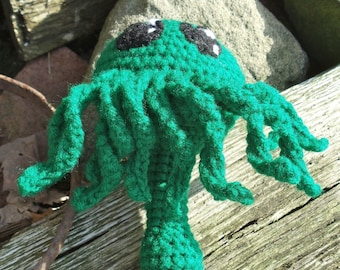 Crocheted Cthulhu Baby Rattle