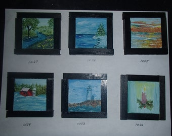 Original mini oil paintings