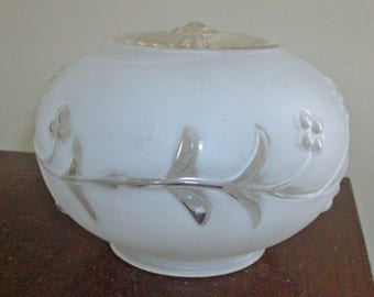 Vintage Frosted and Clear Glass Shade