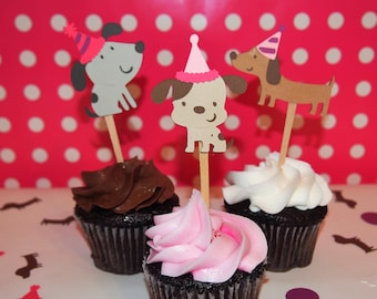 Dog Cupcake Toppers Etsy