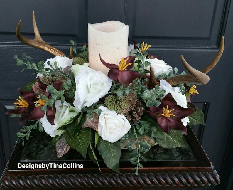 Antler Wedding Antler Floral Deer Antler Wedding Deer Antler Etsy