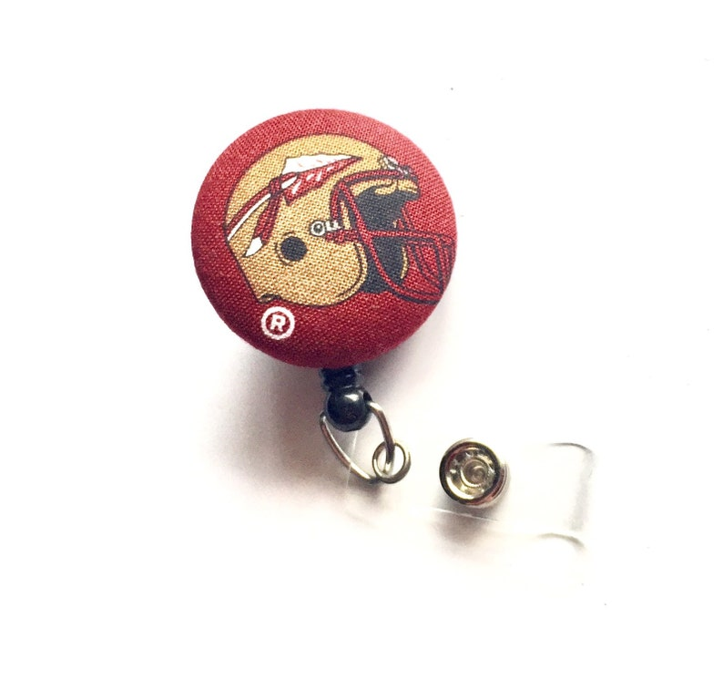 Retractable ID BADGE Reel Holder Name Tag Lanyard made with image 0
