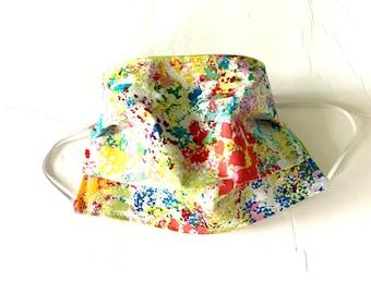 Adult Face Mask Reusable Face Mask,  Cotton Fabric Mask, Washable Face Mask, Cloth Face Mask Reversible Paint Splat