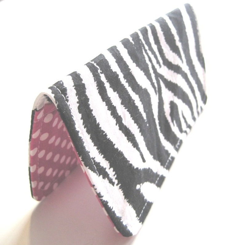 Fabric Checkbook Cover Checkbook Holder Checkbook Wallet image 0