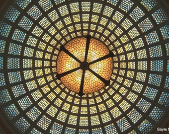 Chicago Cultural Center Tiffany Dome Ceiling Fine Art Photograph, Wall Art, Room Decor, Tiffany Glass Image, Gift, Dome Print, Chicago Image