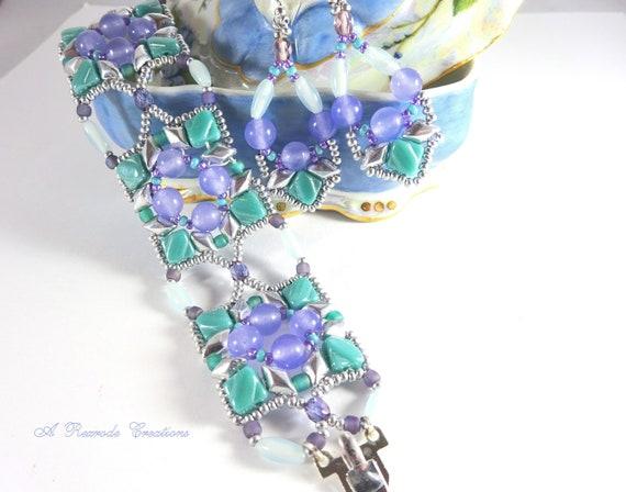 Summer Seed Bead Jewelry Set