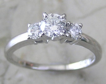 Pre Christmas SALE Diamond Engagement Ring 14K Total Diamond Weight  0.55 Ct., Complimentary Appraisal Will Accompany Purchase