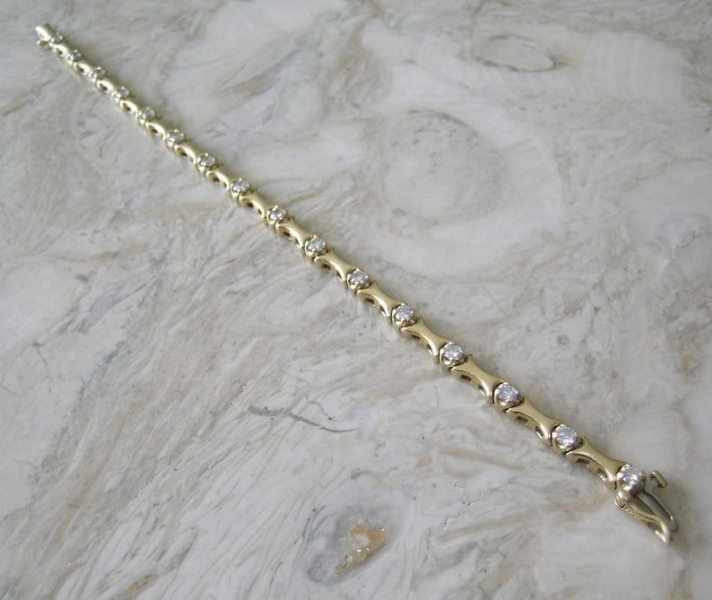 Sale 14K Diamond Bracelet 2.40 Cts. Full Cut  Round Diamonds image 0