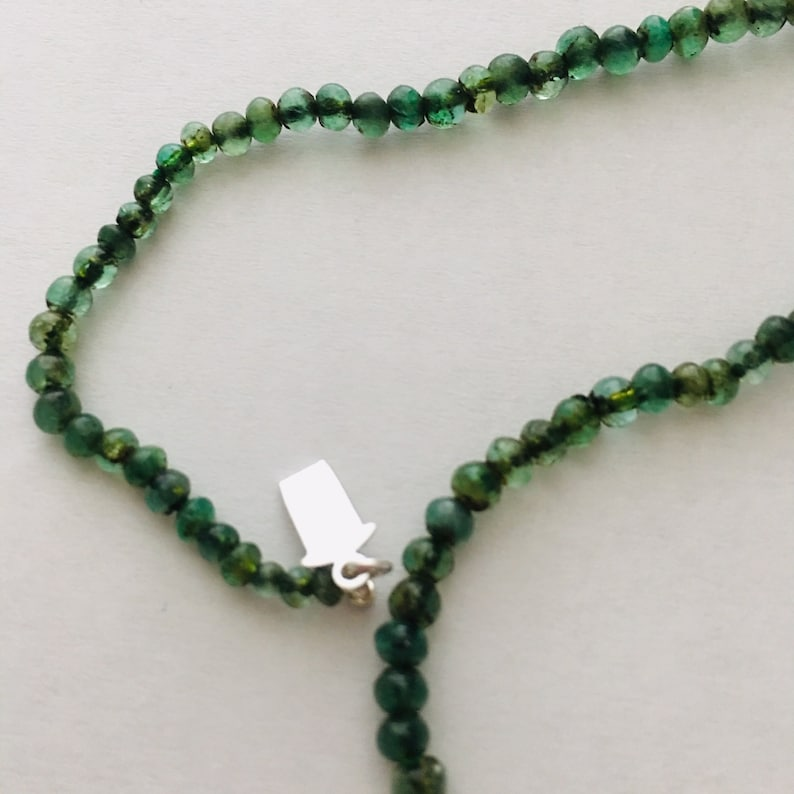 Vintage Strand of Natural Green Emeralds 21 Inches Long Strung image 0