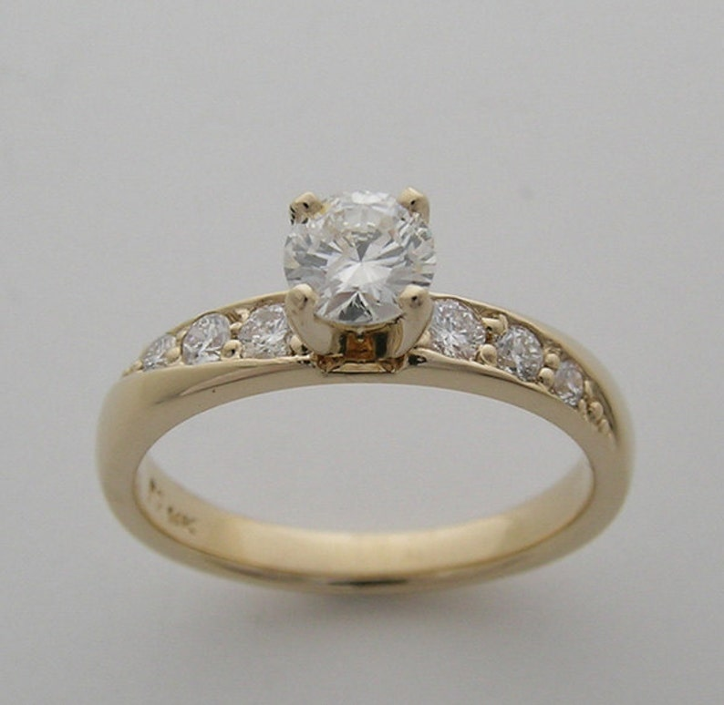 SUMMER SALE PRICE Diamond Engagement Ring 14K Gold Total image 0