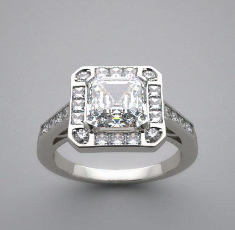 Gold Engagement Ring Setting With Unique Diamond Accents on image 0