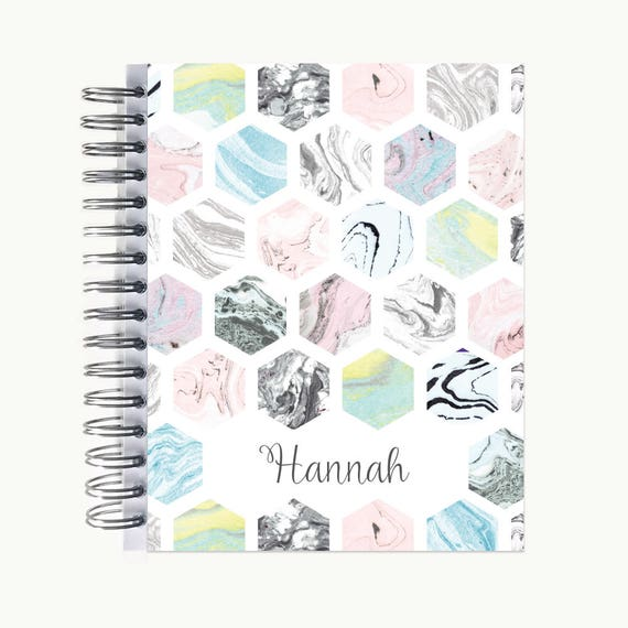 Bullet Journal – Personalized | Spiral | Dot Grid | Notebook | Marble by Etsy