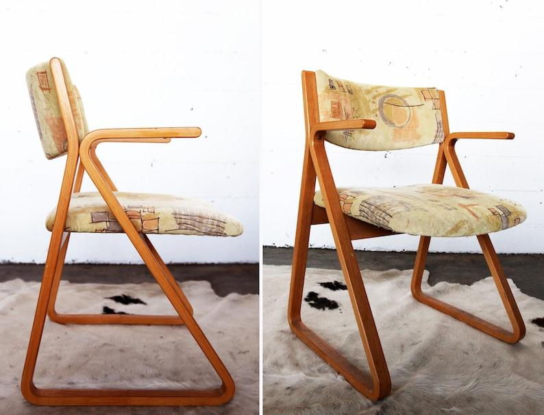 Swell Mid Century Modern Stow Davis Triangle Chair Oak Mcm Danish Mod 1970S 1960S Ergonomic Armchair Arm Chair Pair Available Download Free Architecture Designs Griteanizatbritishbridgeorg