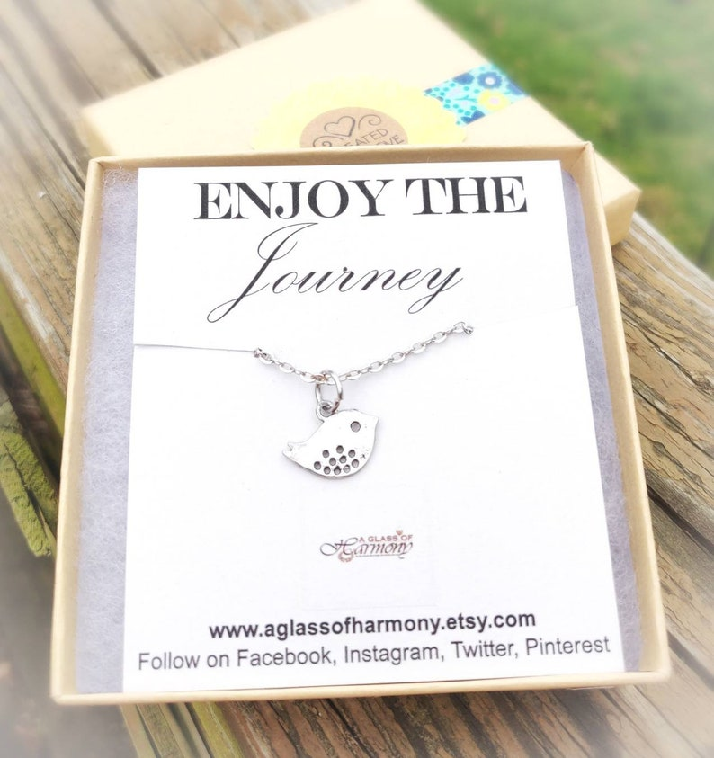 Graduation Necklace Graduation Jewelry Gift for grad Inspiration Gift Cute Bird Necklace GRADUATION GIFT Graduation gift for her