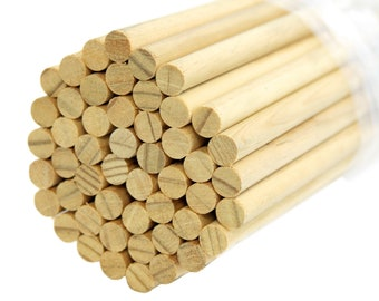 10-Inch 85-Count Thin Wood Craft Dowels Natural