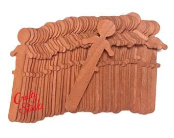 "Wavy Wood Fan Handles 8/"" Wavy Stirring Sticks Wooden 400 count"