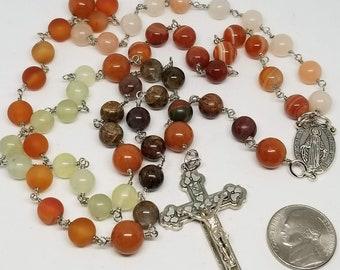Catholic Rosary - Mixed Gemstones - Handmade by MartinMade