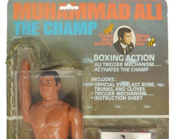 Vintage 70s Muhammad Ali The Champ Mego Boxing Action Figure Doll