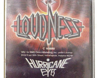 Vintage 80s Loudness Hurricane Eyes Heavy Metal Record Club Album Cassette Tape