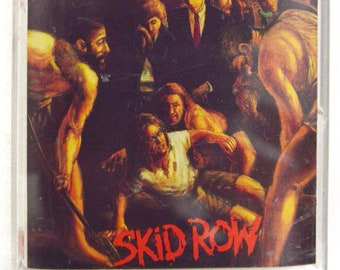 Vintage 90s Skid Row Slave to the Grind Heavy Metal Album Cassette Tape