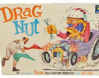 Vintage60s Ed Big Daddy Roth Drag Nut Custom Monster NIB Kit Model