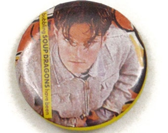 Vintage 80s The Soup Dragons Bubbling Have Been Pinback Button Pin Badge