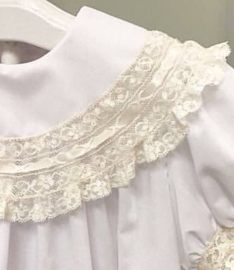 Boy Heirloom Bubble Outfit Button On or Blouse Shorts-Ring Bearer Portraits Special Occassions with Round Lace Collar