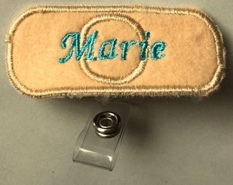Personalized Nurse Badge Holder Embroidere- Doctor Badge- Nurse Badge- Cute Christmas Gift