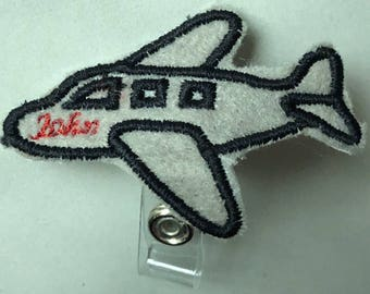 Flight Attendant Badge Holder Personalized- Captain- Flight Crew- Perfect Christmas Gift