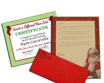 Letter from santa kit with envelope template red christmas personalized letter from santa claus postmarked from the north pole spiritdancerdesigns Choice Image