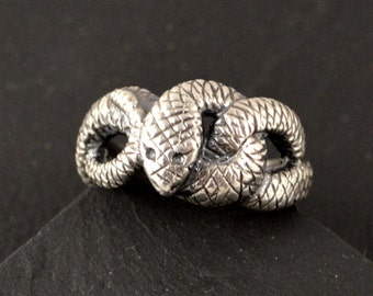 Nidhogg ring, sterling silver