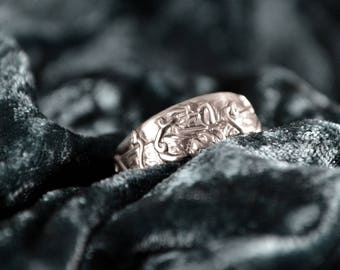 Kraken Ring in Sterling Silver or 10k gold