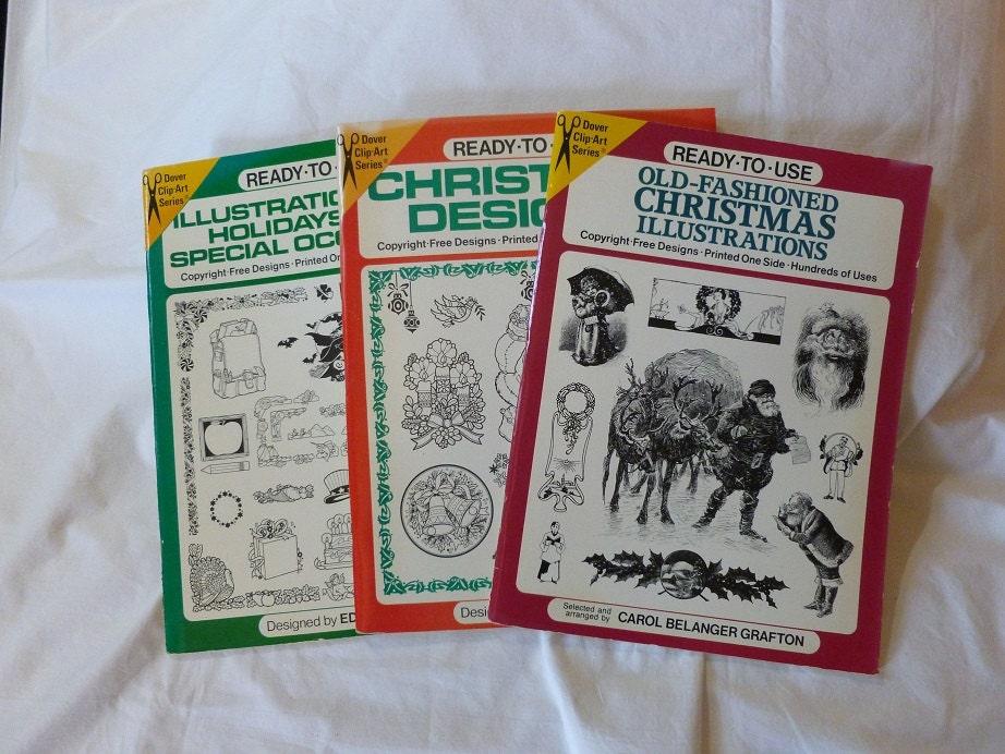 3 Clip Art Copyright Free Illustration Bookschristmas Etsy