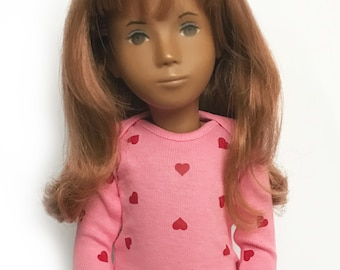 Sasha Doll & MSD L/S T-Shirt - Pink with scattered hearts