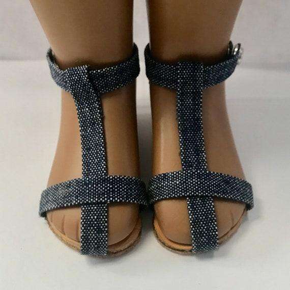 10114c4b5384e Blue denim unisex sandals for 16