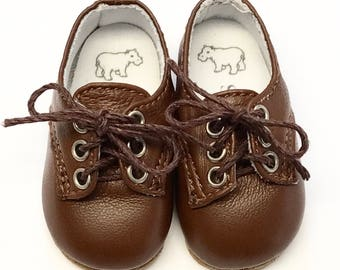 """Chocolate Brown leather lace-up shoes for 16"""" Sasha and a Girl for All Time dolls"""