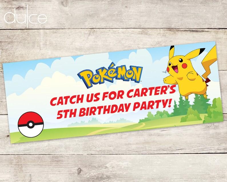 Facebook Event Cover - Banner - Pokemon, Pokemon Go, Pichu- Digital File