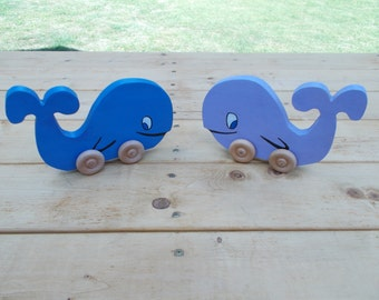 Animal Push Toy -  Whale Push Toy