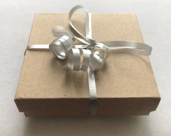 Curling Ribbon for 3.5x3.5x1 inch Kraft Jewelry Boxes - 4 or 8