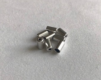 3MM Terminator Ends Silver Plated - 8 pieces
