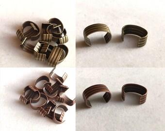 AB or AC Cuff 12 pieces |  Antique Brass or Antique Copper Leather Cuff | Metal Bead Cuff | Metal Cuff