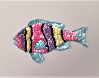 6 Tropical Fish 3D Spacer Bead Trinket 17mm Silver Tone Metal Fish Bead - SF103