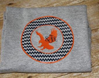 Personalized Auburn Tiger Chevron T'Shirt