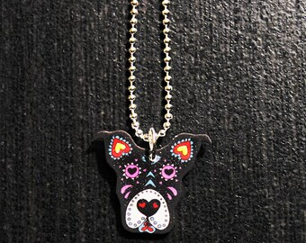 Pit Bull Sugar Skull Necklace 10% Proceeds to Pit Bull Organization