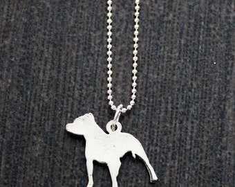 Pit Bull Charm Silver Necklace 10% Proceeds to Pit Bull Organization