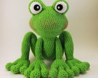 Froggy Amigurumi Pattern Frog Crochet Pattern - PDF file only, doll not included.